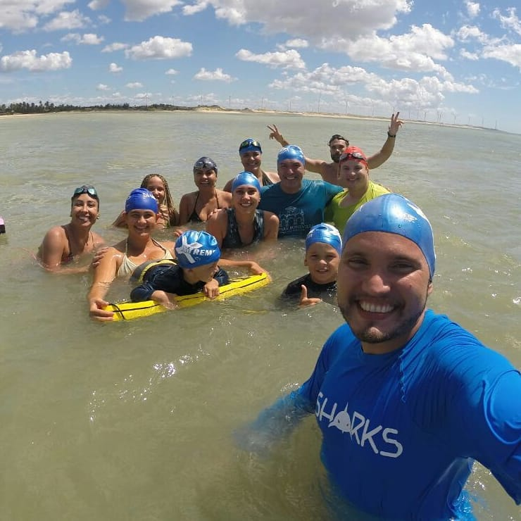 Clínica de natação (Foto: Thiago Macedo / Sharks natação)