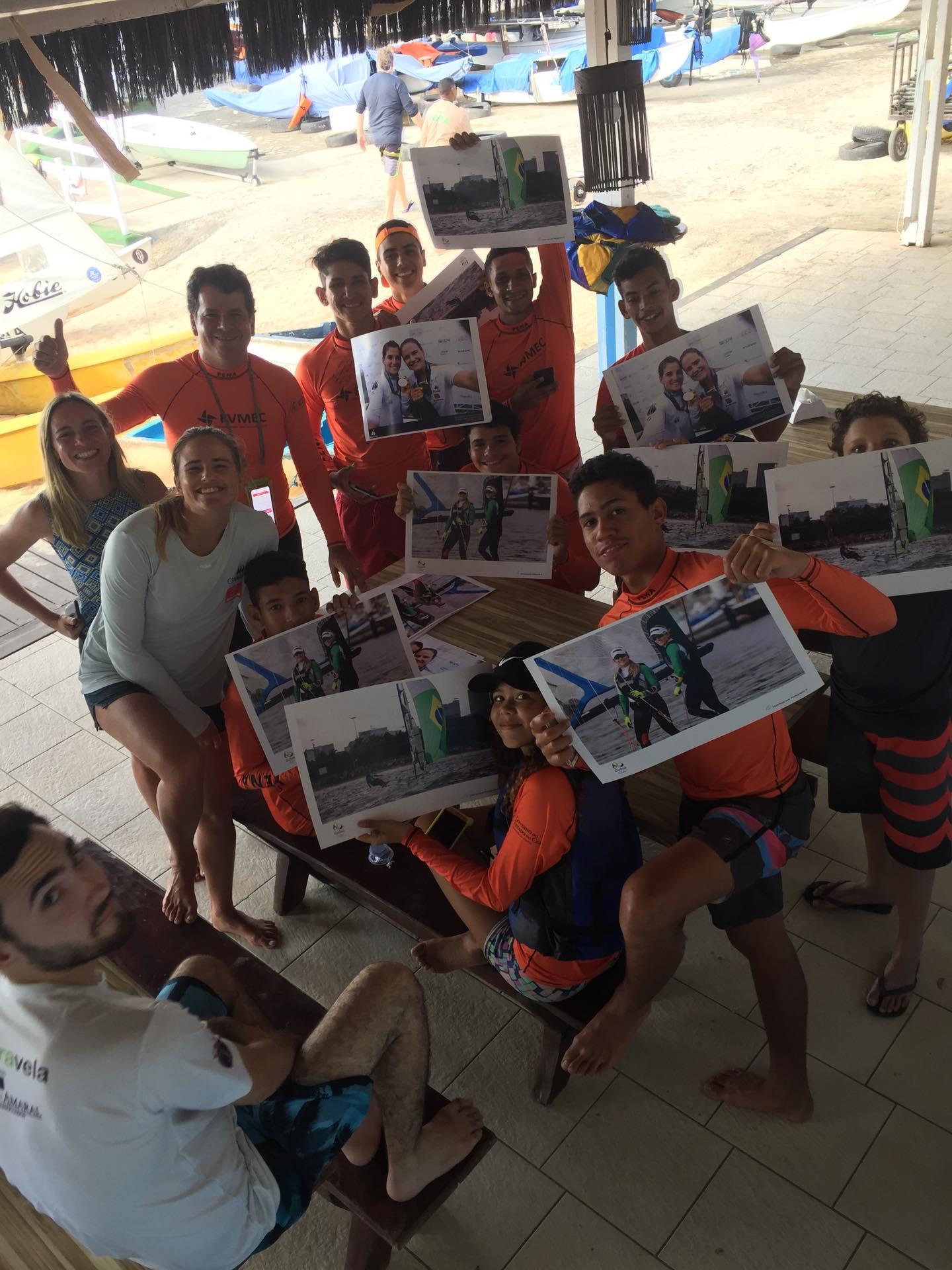 Kahena Kunze visita Fortaleza e conhece o projeto É sal! , no Iate Clube. (Foto: divulgação)