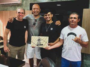 """Carlos Mário """"Bebê"""", Douglas Santos, Júnior Pipoca e Claudinho (da esquerda para direita)"""
