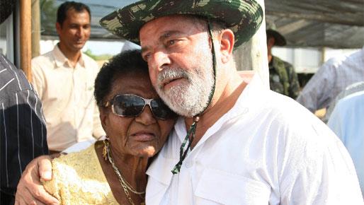 Dona Joana e Lula, em foto de Ricardo Stuckert