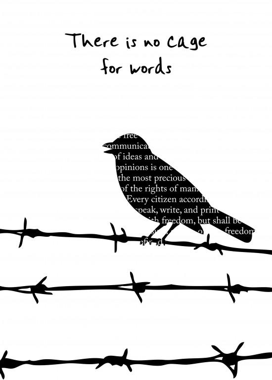 Não existe prisão para as palavras. De Florian Harmand e Flavie de Ravel, Limoges, France