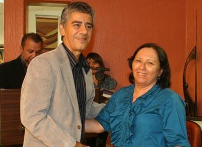 Os dois ombudsmans: Paulo Rogério, que inicia seu trabalho, e Rita Célia Faheina, que conclui seu mandato