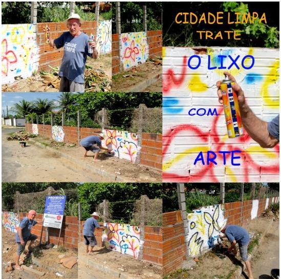 Hélio Rôla: tirando o lixo e pondo arte (clique para ampliar)