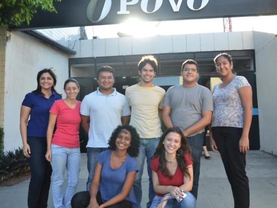 Estudantes da 14ª turma do Curso Novos Talentos O POVO para Estudantes de Jornalismo (clique para ampliar)