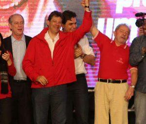 Ciro prestigiou convenção de Haddad em São Paulo