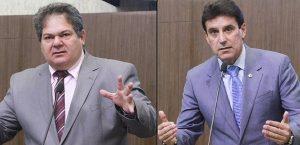Osmar Baquit (esquerda) e Agenor Neto (direita) quase foram às vias de fato no plenário (Foto: Divulgação/AL-CE)