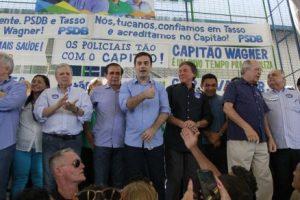 Coligação de Wagner une PR, PMDB, PSDB e SD (Foto: Mateus Dantas/O POVO)