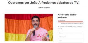 Psol lança abaixo-assinado para reivindicar João Alfredo nos debates (Fptp: Divulgação)