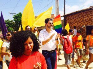 João Alfredo visita Bom Jardim com Raquel Dias (Foto: Divulgação / Facebook)