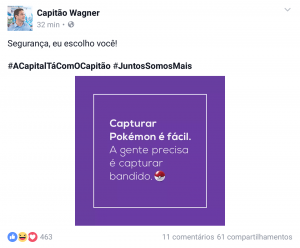 Capitão Wagner fez afirmação no Facebook