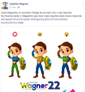 Capitão Wagner (PR) faz enquete para escolha do mascote de campanha (Foto: Divulgação / Facebook)