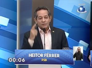 Heitor Férrer diz que não cometeu infrações e que multas não tem relação com proposta de remover fotossensores (Reprodução/TV O POVO)