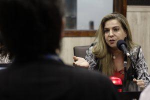 Luizianne participa de sabatina na Rádio O POVO CBN (Foto: Aurélio Alves/ESPECIAL O POVO)