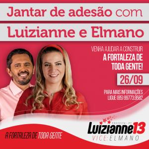 Convite para o evento foi divulgado por Luizianne nas redes sociais (Foto: Divulgação)