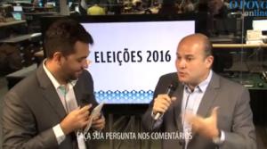 Roberto Cláudio é entrevistado ao vivo pelo O POVO Online (Foto: Reprodução / O POVO Online)