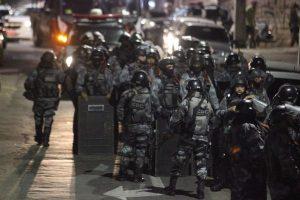 Ação policial na manifestação do dia 7 de setembro em Fortaleza (Foto: Mateus Dantas / O Povo)