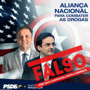 Página desmente materiais de campanha falsamente atribuídos ao candidato (Foto: Reprodução)