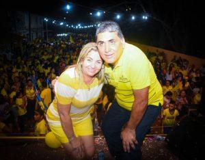 Antônio Cláudio e dona Bill comemoram reeleição (Foto: Reprodução / Facebook)
