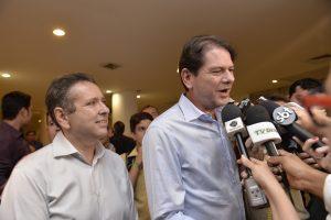 Cid e Ciro Gomes eram aliados de Domingos Filho desde 2007 (Foto: Humberto Mota/O POVO)