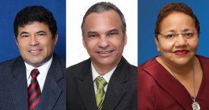 na ordem: Carlos Mesquita, Dr. Eron e Eliana Gomes serão empossados na Câmara (Foto: Divulgação / CMFOR)