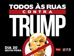 PSTU nacional faz ato contra Trump (Foto: Divulgação / Facebbok)