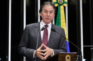 Senador Eunício Oliveira deve chegar à presidência do Senado nesta quarta (Foto: Senado Federal)