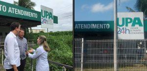 UPA visitada por Camilo passou por serviços de manutenção e limpeza (Foto: Reprodução)