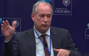 Ciro discursou durante evento da Universidade de Oxford sobre o País (Foto: Reprodução/Youtube)