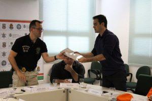 Capitão Wagner entregou projeto em reunião com André Costa (Foto: Divulgação)