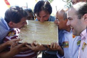 Hoje adversários, grupos de Ciro e Eunício eram aliados até 2014 (Foto: Iana Soares/OPOVO, em 19/08/2010)