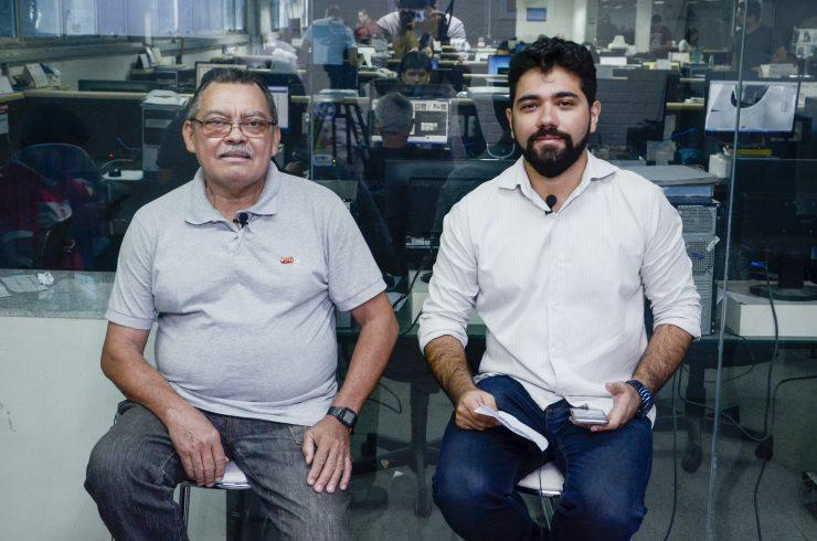 Gonzaga e o jornalista Ítalo Coriolano