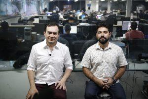 Ailton Lopes e o jornalista Ítalo Coriolano