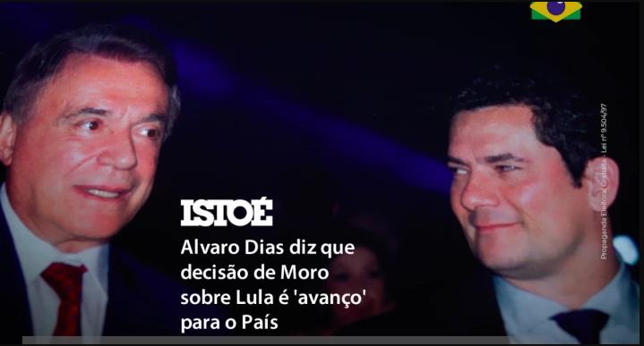 Alvaro Dias faz campanha com Sergio Moro