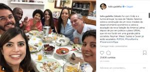 Deboche com acusação de Daciolo foi divulgada nas redes sociais (Foto: Reprodução/Instagram)