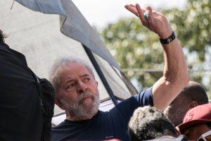 Lula no dia em que foi preso
