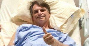 Bolsonaro na cama de hospital