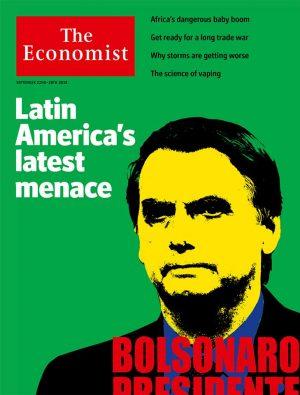 """Matéria de capa da The Economist diz que Bolsonaro seria presidente """"desastroso"""" (Divulgação)"""