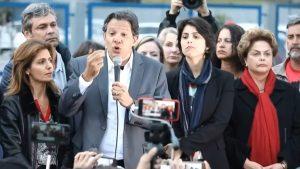 Fernando Haddad no primeiro discurso como candidato