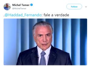 Vídeo foi divulgado na página oficial do presidente no Twitter (Reprodução)