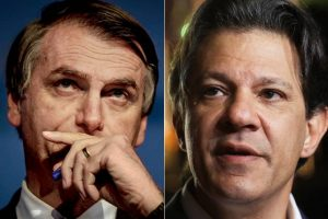Bolsonaro e Haddad no Datafolha