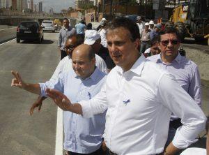 Camilo Santana em visita com Roberto Cláudio