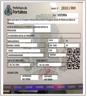 Decreto do prefeito Roberto Cláudio obriga uso de adesivos internos e externos para motoristas de Uber (Foto: Divulgação)