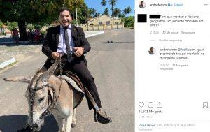 André Fernandes ataca internauta após provocação