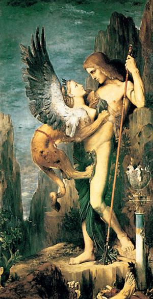Édipo e a esfinge. Gustave Moreau (1826-1898)