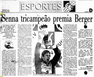 No dia 20 de outubro de 1991, O Povo noticiou a conquista. (Imagem: Acervo O POVO)