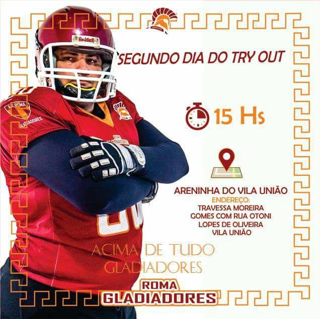 e304692196 Roma Gladiadores realiza segunda fase da seleção de novos atletas