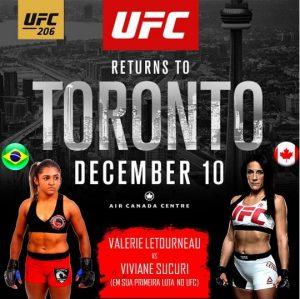 Dia 10, Viviane Sucuri enfrentará Valérie Létourneau, em sua primeira luta pelo UFC. (Reprodução)